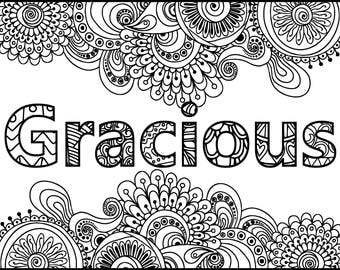 Inspirational coloring page Etsy