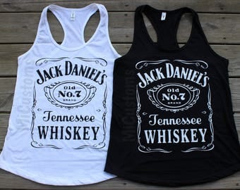 THIS WEEKEND ONLY! While Supplies Last! Jack Daniel's Daniels Racerback Tank Top Alcohol Drinking Shirt Top Tee Women's Ladies'