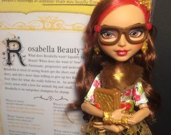 Hand painted OOAK Ever After High doll Rosabella Beauty