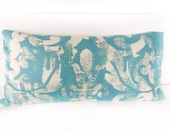 Teal lumbar pillow with Insert
