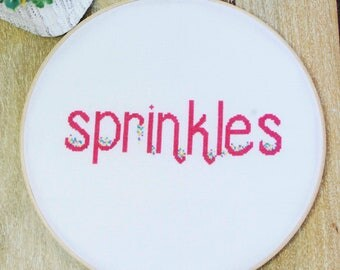 Sprinkles - Modern Cross Stitch PDF pattern- Instant Download