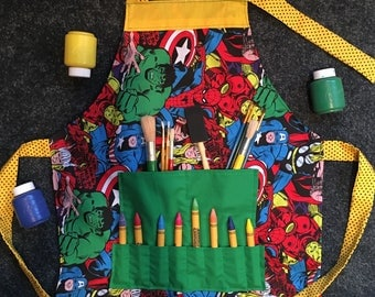 Avengers painting smock/apron,
