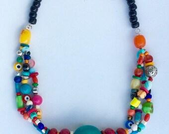 Berber multicolored necklace