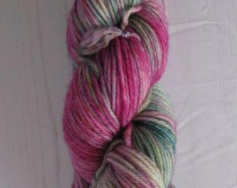 "DK "" Raspberry Succulent "" hand dyed yarn."