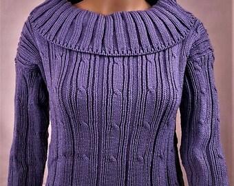 Women sweater, sweater wool, knitted sweater, purple sweater, sweater winter warm sweater, sweater