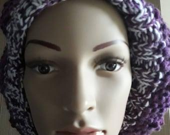Beret wool beret, knitted beret, beret handmade violet beret, beret women beret winter chic beret, beret