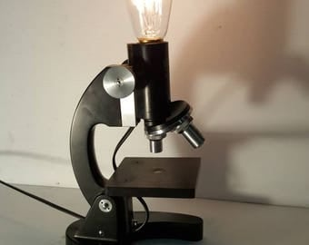 Upcycled / Repurposed Microscope Lamp