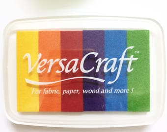 VersaCraft ink pad , 6 bright colors in one pad