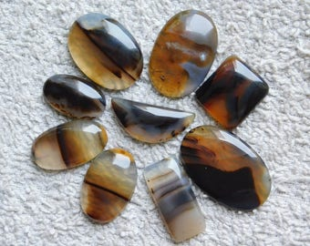 Lot ! Amazing Natural Montana Agate,Loose Gemstone,Gorgeous Montana Agate Cabochons Excellent Gemstone 100%Natural 188.55cts, 9 Pieces