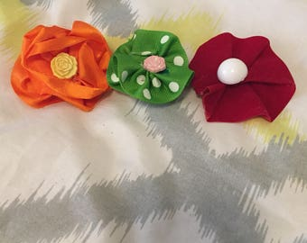 New Hand made flower clips