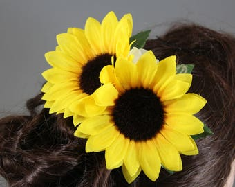 "Vintage inspired hair flower/rockabilly Hairflower ""Sunny"""