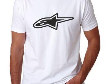 Alpinestars Racing Extreme Bike T Shirt Biker Racer T-shirt Tee Motorbike Top UK