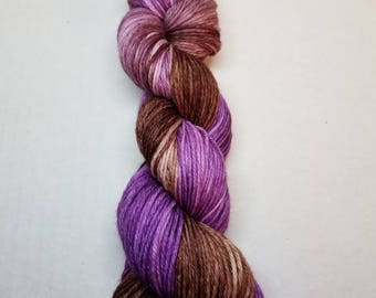 Hand dyed yarn indie yarn sport weight merino sock yarn 274 yards
