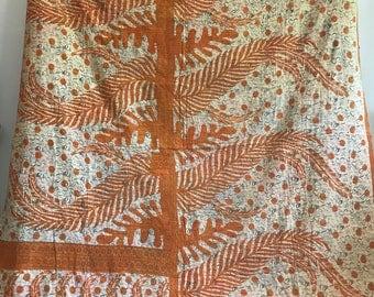 Vintage Kantha Throw, Handmade Kantha Quilt, Boho Bedding