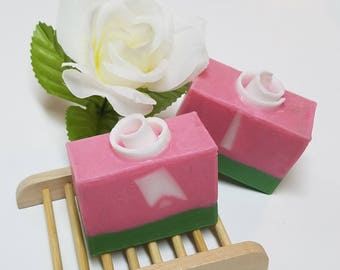 Rose Garden Soap, Glycerin Soap, Goat's milk Soap, Palm Free Soap, Handmade Soap, Rose Soap, Gifts for Her, Gifts for Him, Anniversary, 4 oz