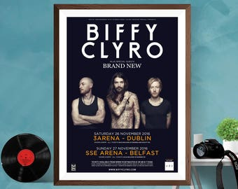 Biffy Clyro Music Tour Print Poster , Simon Neil Wall art Home decor Canvas/Matt/Silk A4/A3/A2 Active