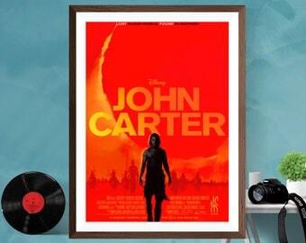 John Carter Minimalist movie print film poster  Taylor Kitsch , Lynn Collins , Dominic West , Willem Dafoe Canvas/Matt/Silk A4/A3/A2