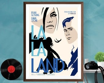 LA LA LAND Musical Romantic Movie Minimalist Alternative Print Poster , Ryan Gosling, Matt / Silk / Canvas A4/A3/A2