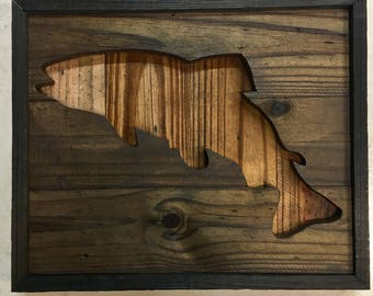 Reclaimed Wood Cutout Fish