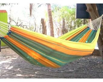 Simple yellow handmade hammock