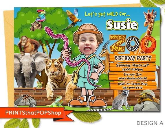 Zoo birthday invitationsafari invitationjungle birthdayadventure il570xn stopboris Images