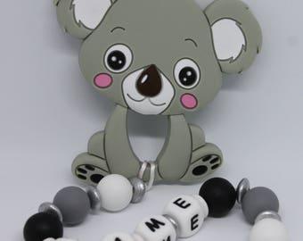 teether teething silicone teether teething toy baby teething personalized teether koala personalized clip personalized gift for baby