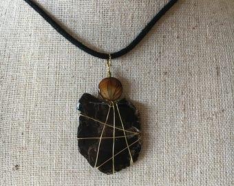 Black Mica Pendant