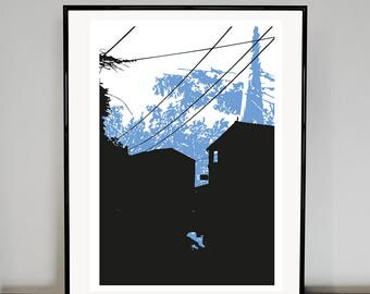 Telegraph Pole   05 art print