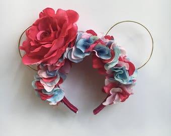 Bubblegum Wall/Cotton Candy Floral Headband