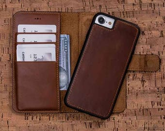 iPhone 8 Leather Wallet Case, Leather iPhone 8 Wallet Case, iPhone 8 Wallet Case, iPhone 8 Case Wallet, iPhone 8 Case - EFFECT TAN