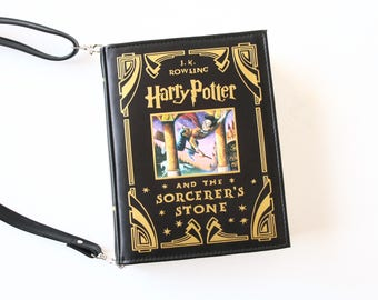 SALE Harry Potter Book Bag The Sorcerer's Stone Book Purse