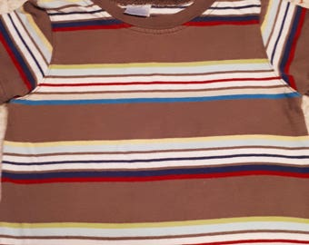 Brown Stripped Puppy Shirt (Size 2P)