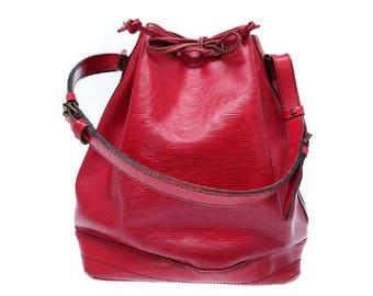 Louis Vuitton Red Epi Leather Noé GM