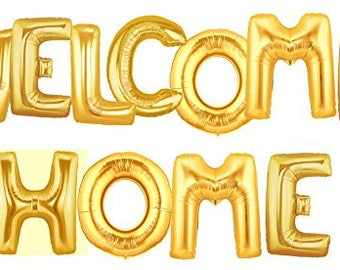 """WELCOME HOME, Giant Balloons, 16"""" or 40"""", Party Balloons, Letter Balloons, Party"""