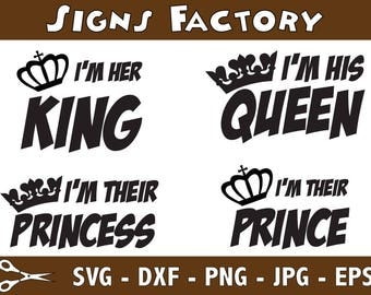 His Queen Her King Svg.Sweating For The Wedding Svg Engagement Svg Wedding Svg Bride