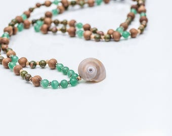 Steadfast Spirit 108 bead mala meditation necklace