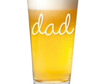 Dad Engraved Pint Glass - Father's Day Gift -PNTG3960-A1280M- Birthday Gift