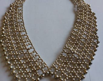Gold Coloured Beaded Collar Necklace