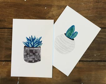 Gallery Wall Art Sets - Succulent Art Prints - Wall Art - Wall Decor - Art Prints - Home Decor - Wall Art Prints - Gifts for Her - Gift