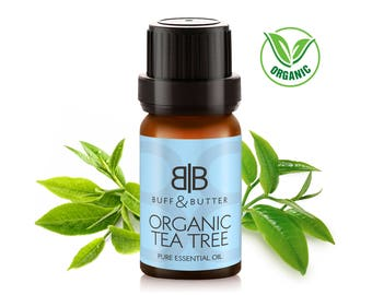 Organic Tea Tree Essential Oil 100% Pure Natural Fragrance Aromatherapy - 1ml Tester Vial, 10ml, 30ml, 50ml, 100ml Bottle