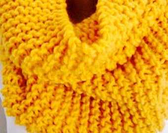 Yellow Knitted Scarf Infinity