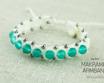 Macrium Bracelet White/Turquoise