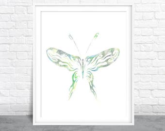 Butterfly art, Nature Watercolor, Insect art, Butterfly Wings