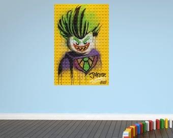 Joker lego bricks new wall sticker decal