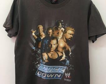 Free Shipping - Vintage 90's WWE SMACK DOWN Tshirt