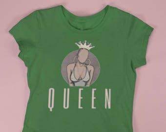Crown up Queen ladies tee