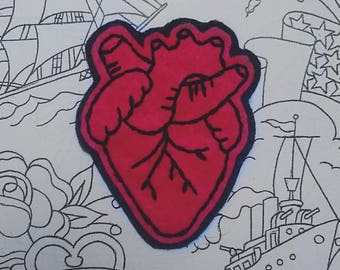 Hand-Embroidered Heart patch