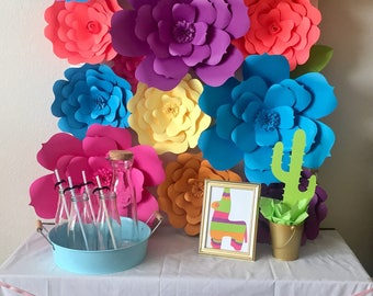 20% off Use code Springsale17-Fiesta Theme Paper Flowers-Set of 18