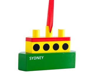 Sydney Ferry Wood Christmas Ornaments