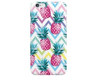 Colourful Pineapple Food White Summer Phone Case Cover for Apple iPhone 5 6 6s 7 8 Plus & Samsung Galaxy S6 S7 S8 Plus